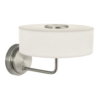 Art Deco Richmond Brushed Nickel Wall Light For Sale