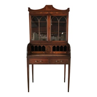 1920s Federal Style Mahogany Secretary For Sale