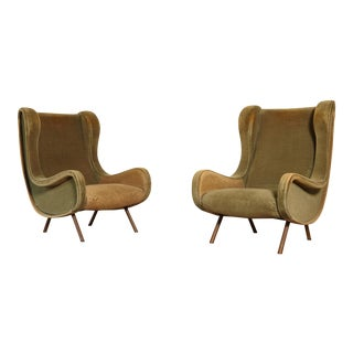 1960s Vintage Arflex Marco Zanuso Senior Chairs - a Pair For Sale