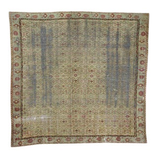 Distressed Antique Oversized Square Rug - 12′10″ × 13′9″