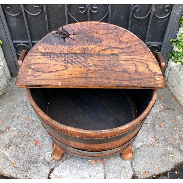 19th Century Antique American Wine Cellarette / End Table W Bow-Tie Inlay For Sale - Image 5 of 6