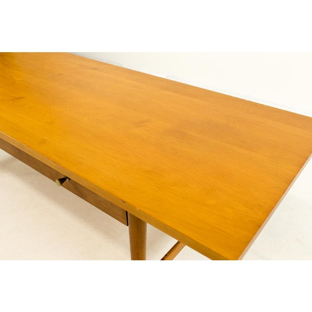 Wood Mid-Century Modern Paul McCobb Planner Group Coffee Table For Sale - Image 7 of 11