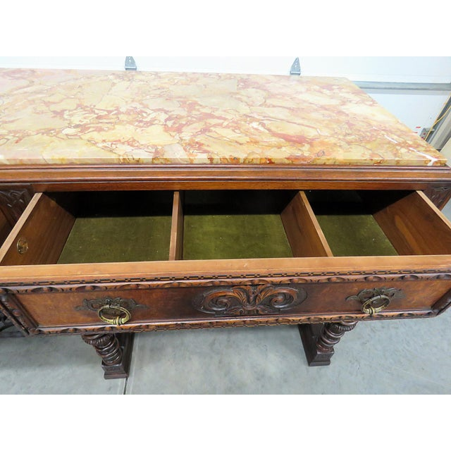 Iron Regency Style Marble Top Sideboard For Sale - Image 7 of 12