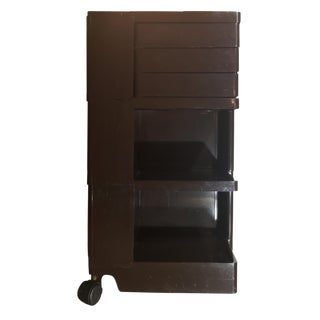 Signed Chocolate Brown Joe Colombo Boby Trolley For Sale