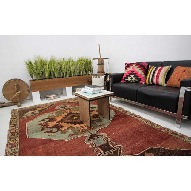 Vintage One of a Kind Turrkish Wool Rug- 5′8″ × 12′1″ For Sale In Los Angeles - Image 6 of 7
