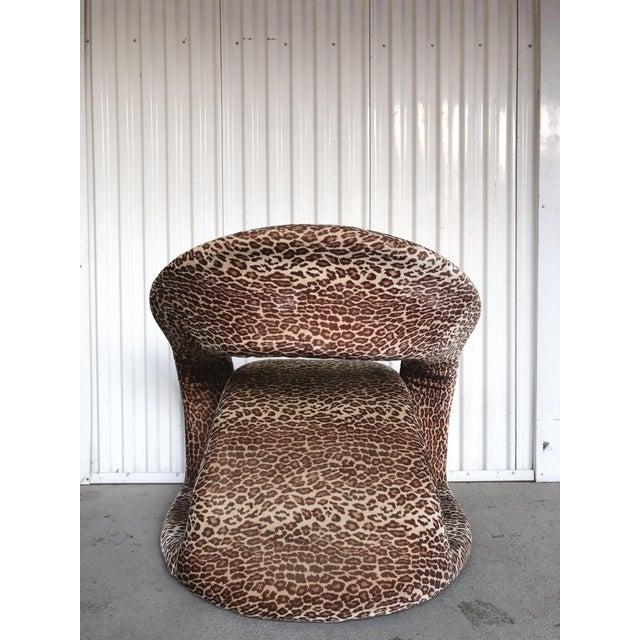 Brown Sculptural Post Modern Velvet Lounge Chair by Jaymar For Sale - Image 8 of 9
