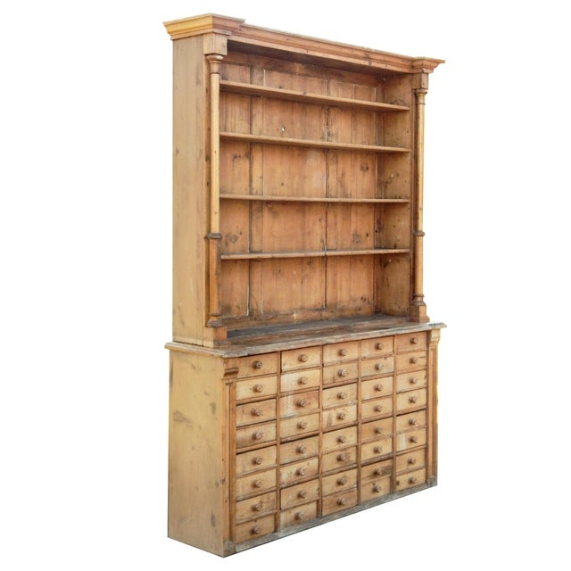Rustic Unusual Pine Hutch For Sale - Image 3 of 8