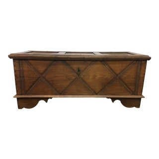 19th Century English Traditional Oak Chest For Sale