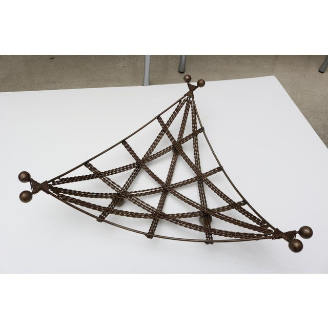 Beautiful Vintage French wire basket, Circa 1940s. Nice geometric design.