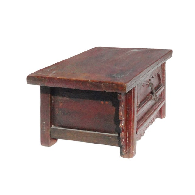 Chinese Old Rustic Small Low Chest Table - Image 3 of 6