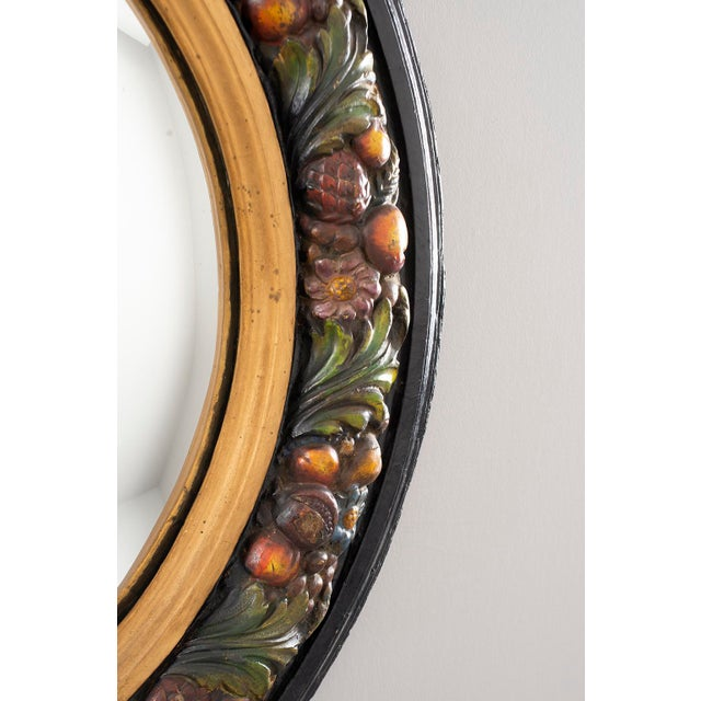 1940s Large Round French Barbola Mirror For Sale - Image 5 of 10