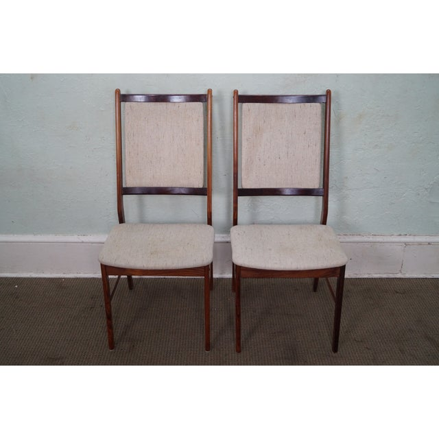 Danish Modern Rosewood Side Chairs - A Pair - Image 2 of 10