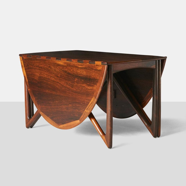 Kurt Ostervig Kurt Ostervig Rosewood Dining Table For Sale - Image 4 of 6