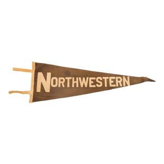 Vintage Northwestern Felt Flag Pennant