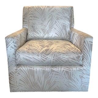 Designer Upholstered Transitional Chair For Sale