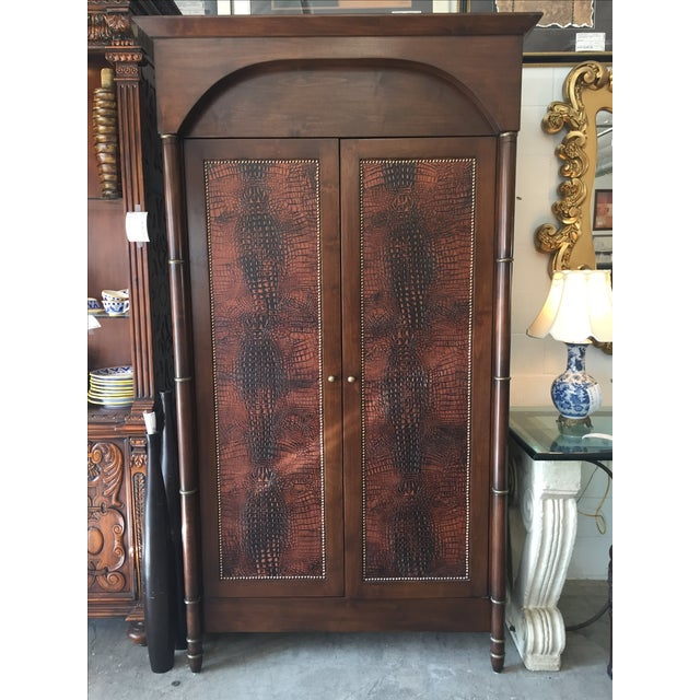 Faux Alligator Armoire - Image 2 of 5