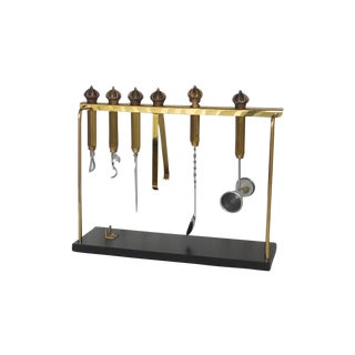 Brass Set of Bar Tools For Sale