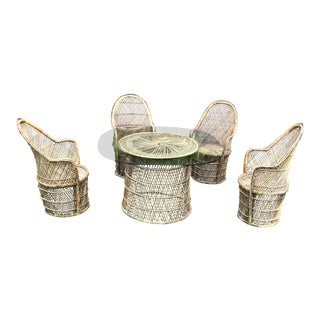 Bohemian Peacock Chair and Table Collection
