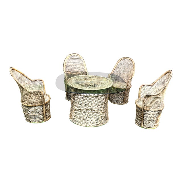 Bohemian Peacock Chair and Table Collection For Sale