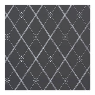 Sample - Schumacher Kasumi Diamond Wallpaper in Chalkboard For Sale