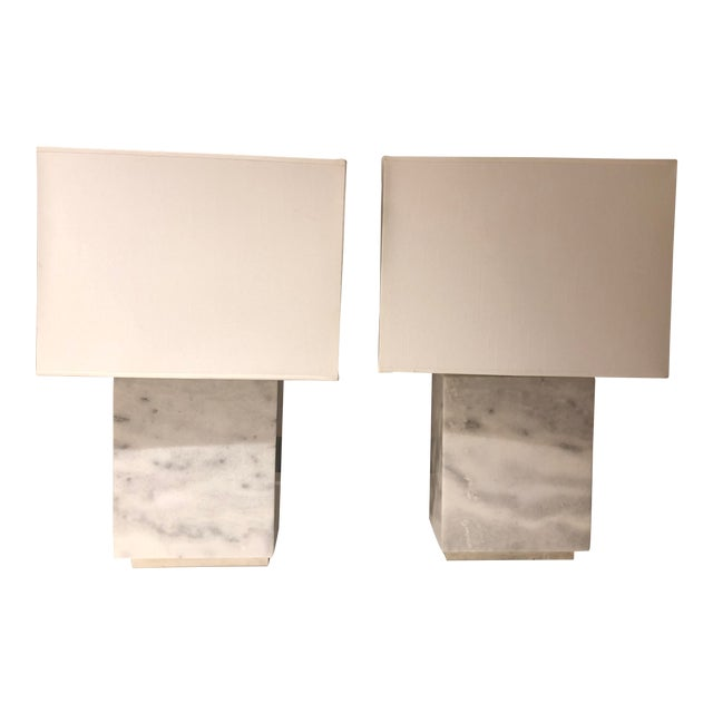 Ralph Lauren Granite Lamps - a Pair For Sale