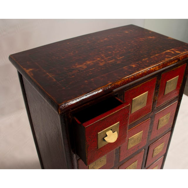 Chinese Chinese Traditional Medicine Apothecary Cabinet With Recessed Pulls For Sale - Image 3 of 4