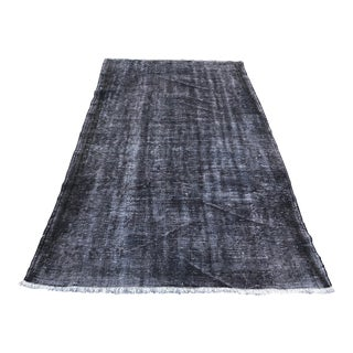 1960s Vintage Turkish Hand-Knotted Rug - 4′7″ × 8′ For Sale