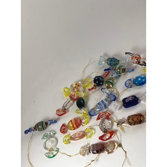Italian Vintage Italian Mouthblown Murano Candy Glass Figurines- Set of 18 For Sale - Image 3 of 7