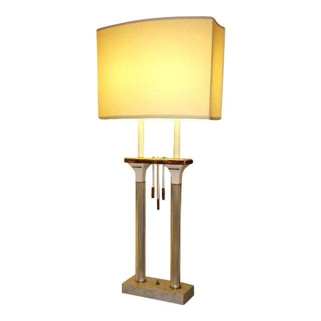 Monumental High Style Modernist Columnar Lamp Parzinger Style. - Image 1 of 8