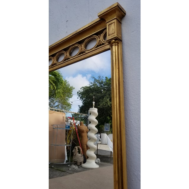 1970s Hollywood Regency John Widdicomb Gold Carved Wood Wall Mirror For Sale In Miami - Image 6 of 11