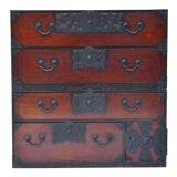 Image of 19th C Japanese Two-Part Tansu For Sale