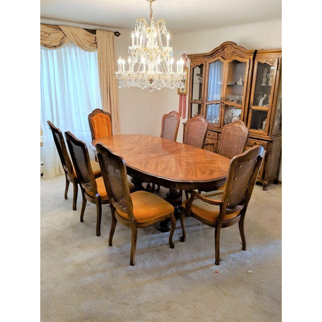 1970s Traditional Hibriten Dining Room Set For Sale - Image 9 of 9