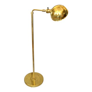 Mid-Century Modern Adjustable American Vintage Brass Floor or Reading Lamp For Sale