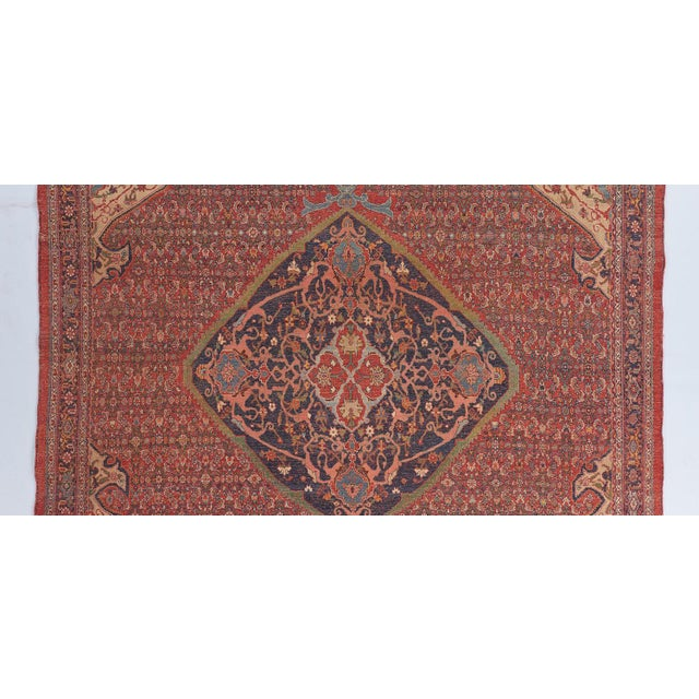 Late 19th Century Mahi Design Bijar Carpet For Sale - Image 5 of 6
