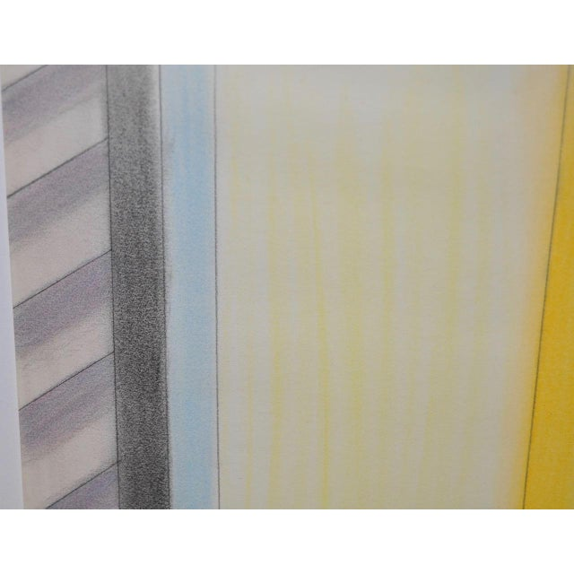 1980s Vintage Abstract Color Pencil and Graphite on Paper by John Charles Haley For Sale - Image 5 of 5