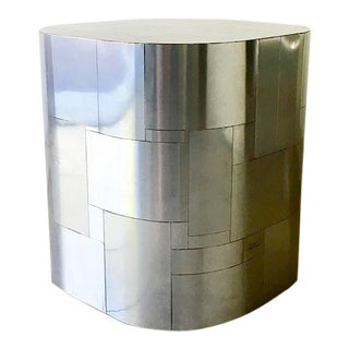 Paul Evans Chrome Cityscape Pedestal Table Base 1970s For Sale