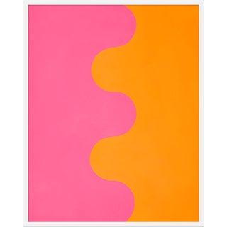 """""""Hairpin Serpentine in Orange & Pink"""" by Stephanie Henderson, 32"""" X 40"""""""