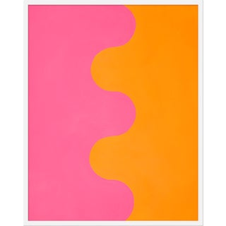 "Medium ""Hairpin Serpentine in Orange & Pink"" Print by Stephanie Henderson, 32"" X 40"""