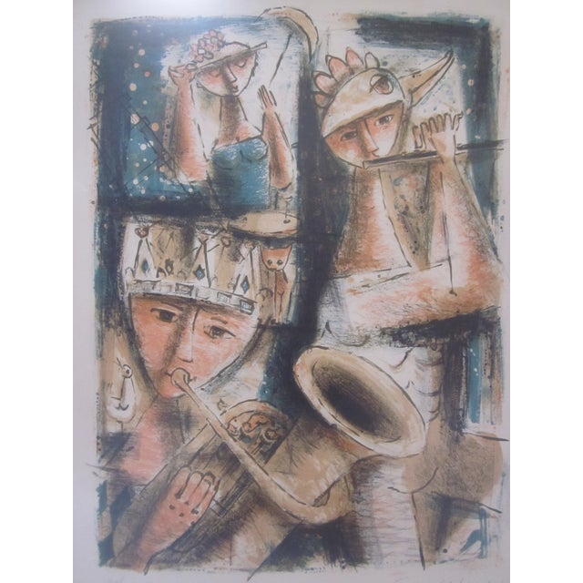 Emil Weddige Abstract Modernist Mid Century Modern Art Musicians For Sale In Phoenix - Image 6 of 8