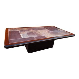 1960s Danish Modern Sallingboe Jelling Tile Top Coffee Table For Sale