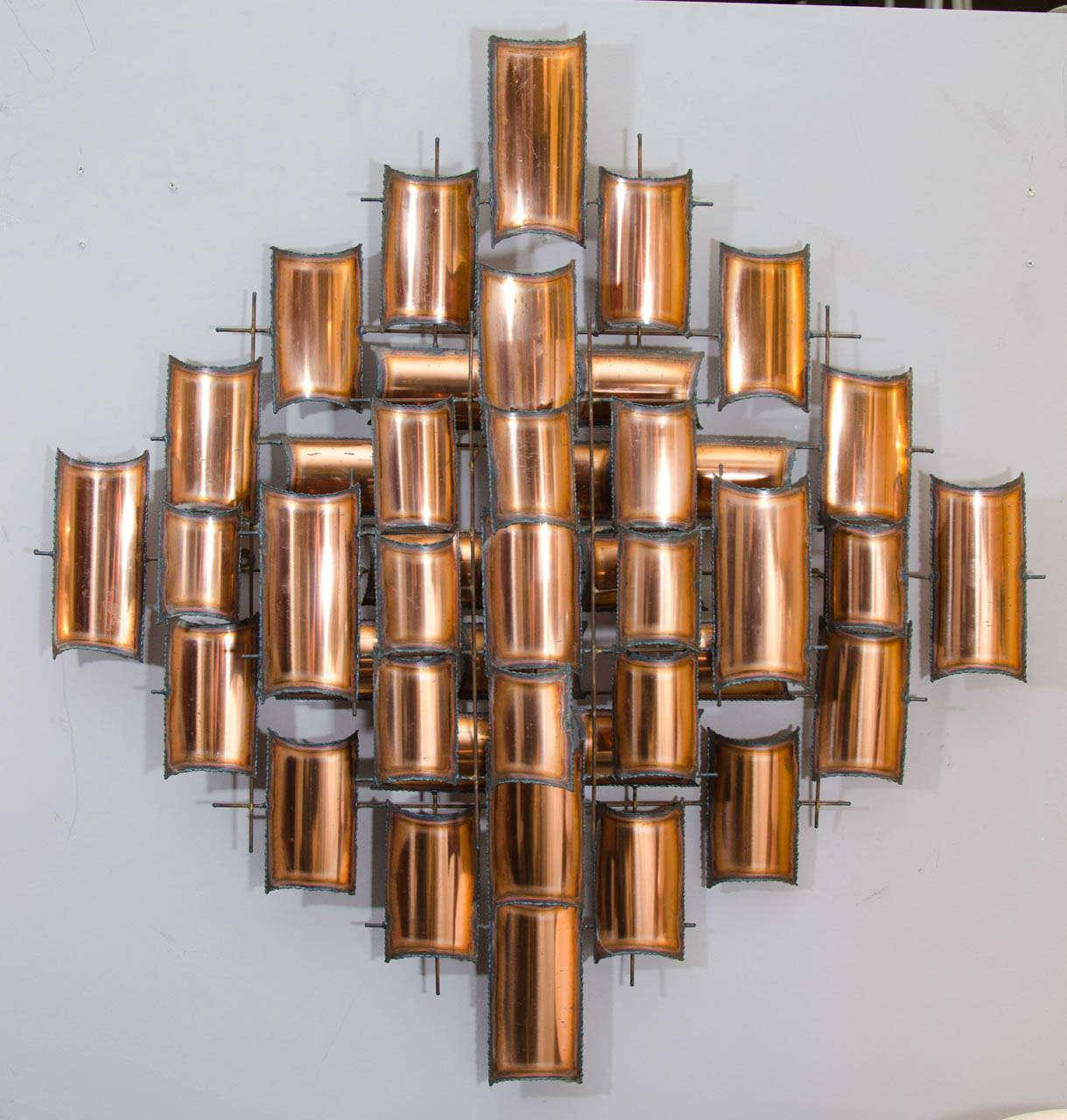Incroyable Torch Cut Copper Wall Art Sculpture   Image 2 Of 6