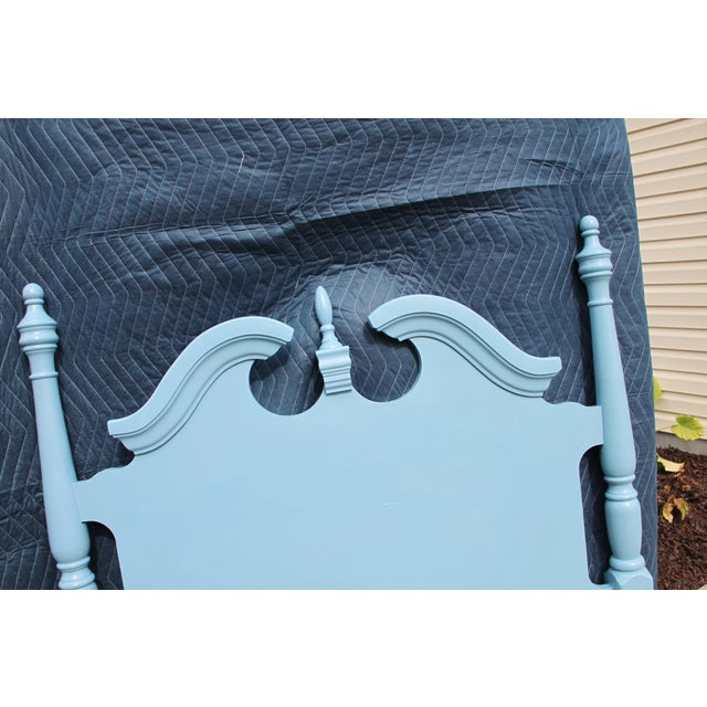 Broyhill Hollywood Regency Beach Blue Twin Headboards - a Pair For Sale - Image 4 of 6