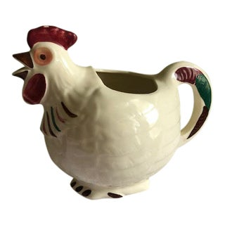 Vintage Shawnee Art Pottery Chanticleer Rooster Pitcher For Sale