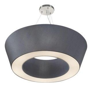 Brushed Nickel / Polished Chrome Pendant Light For Sale