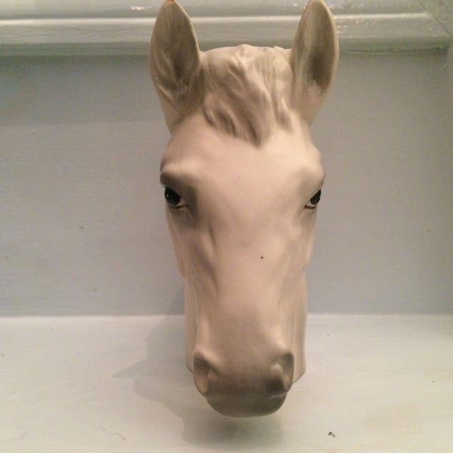 Ceramic Horse Vase For Sale - Image 4 of 8