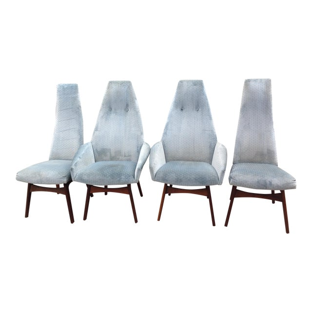 Adrian Pearsall Sculptural High Back Arm Chairs - Set of 4 - Image 1 of 3