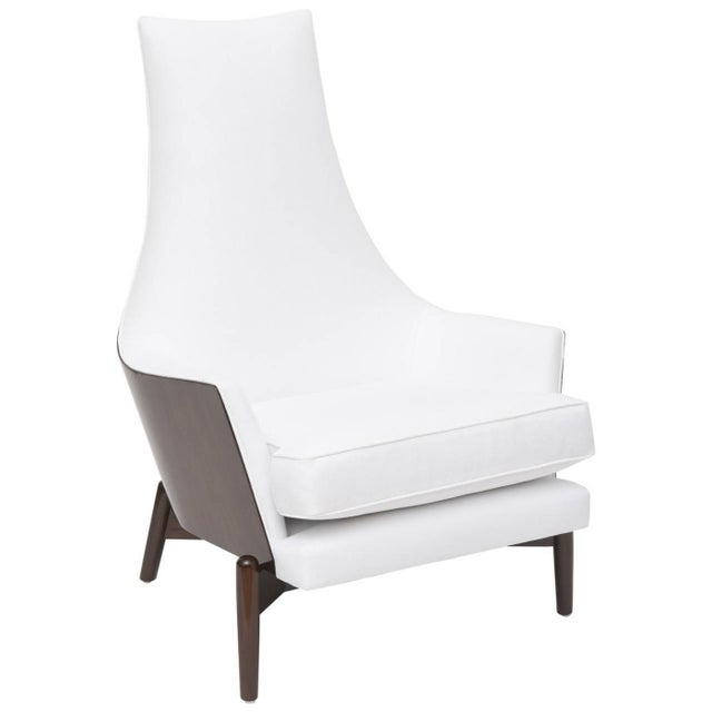 Art Deco A Danish Modern Dark Walnut Lounge Chair, Ib Kofod Larsen For Sale - Image 3 of 3
