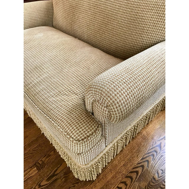 Brunschwig & Fils Oxford Gold Chenille Fabric Sofa & Loveseat - A Pair For Sale - Image 10 of 13