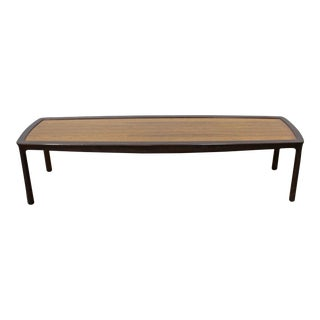Mid-Century Modern Asian Edward Wormley Dunbar Long Rosewood Coffee Table For Sale