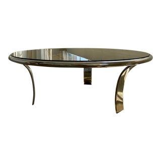 Original Gardner Leaver for Steelcase Chrome Coffee Table For Sale